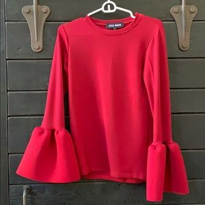 Style Mafia Red Bell Sleeve Top - Never Worn!